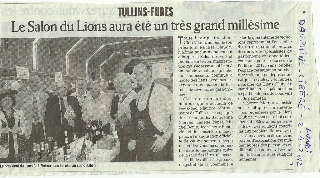 31 03 et 01 04 2012 salon des vins et produits du for Salon vin grenoble