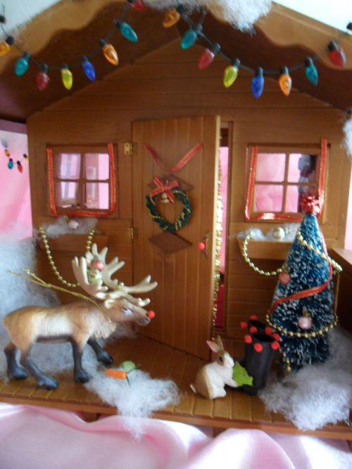 L'entrée du Chalet du Père Noël