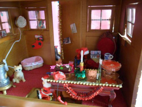 L'intérieur du chalet du Père Noël