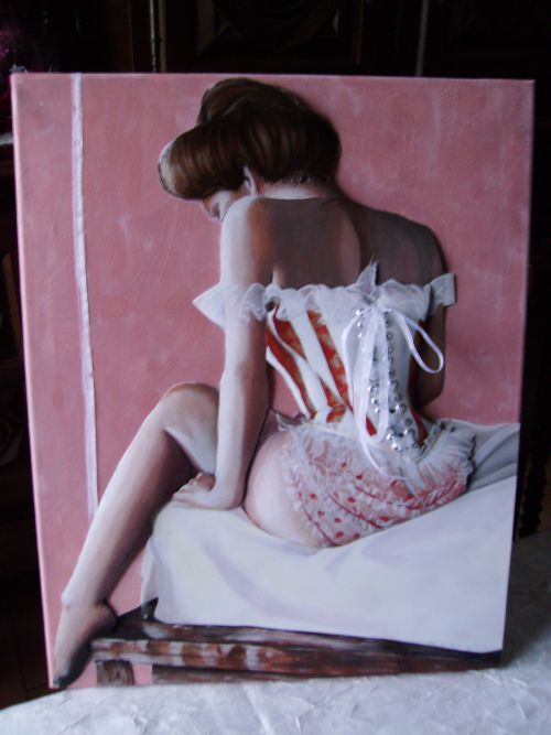 Femme au corset  3D