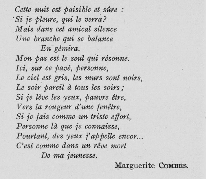 Combes Marguerite 1ère Moitié Du Xxème 1ère Moitié Du