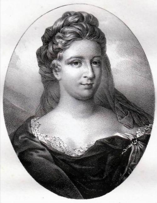 Deshoulières ( Antoinette, la mère) 1638-1694. Par Lafon.