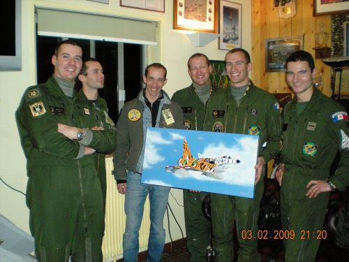 J'ai offert cette toile lors d'une invitation à un vol de nuit à l'escadron du 1/12 Cambrésis
