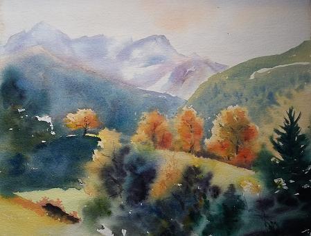 Montagne à l'automne
