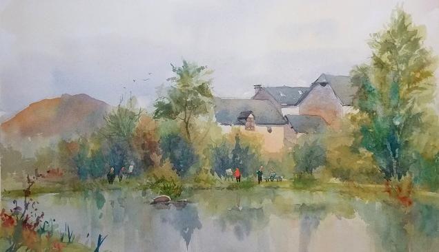 Peinture au Foehn 10/16 (plein air)