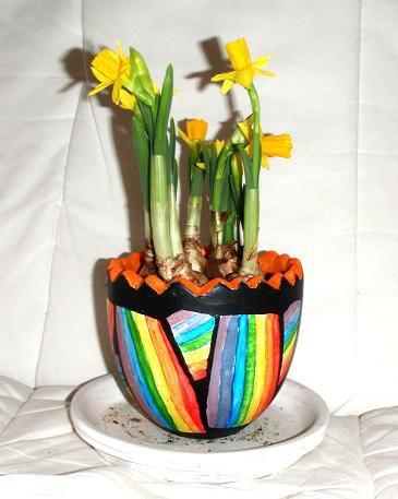 Pot décoré
