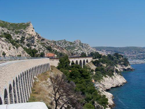 vue depuis les quais en direction de Marseille