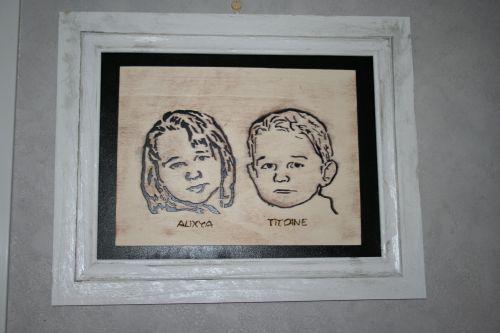 portrait de mes enfants