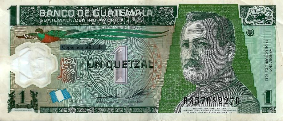 Monaie guatemaltèque 1 Quetzal..jpg