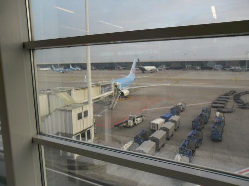 Ca y est ! Nous sommes à l'aéroport !