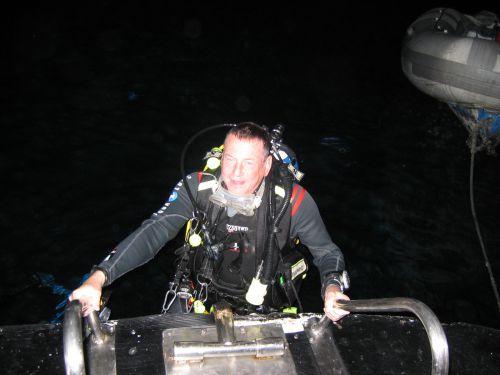 Mon retour de plongée de nuit