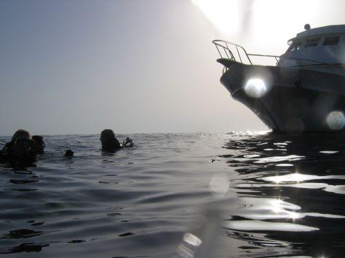 Fin de plongée