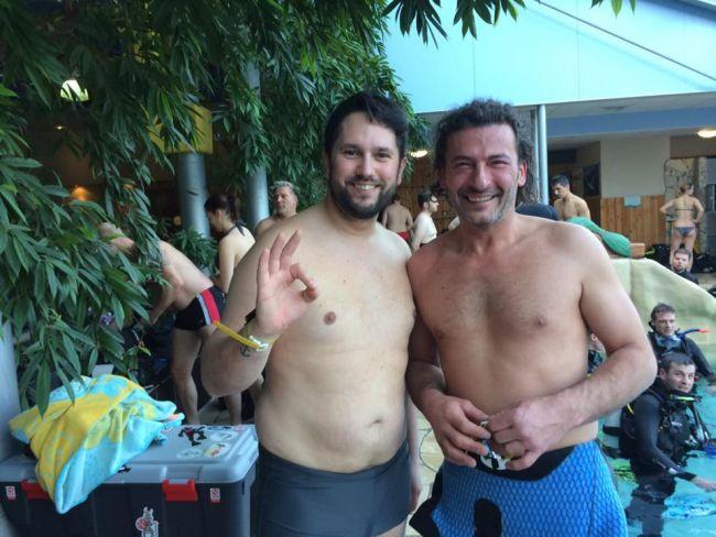 Cédric (à gauche) et Eric Veleno