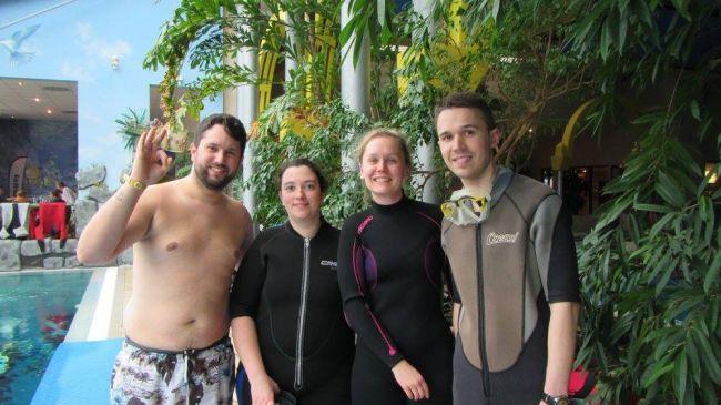 De gauche à droite :Cédric, Angélique, Caroline, Benoit