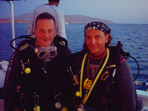 Avec mon ami Christian (a droite sur la photo )