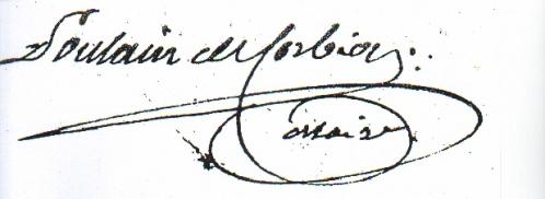 Signature de Poulain de Corbion Maire.JPG