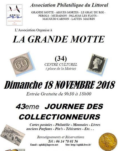 43eme journee des collectionneurs la grande motte 18 novembre 2018.png