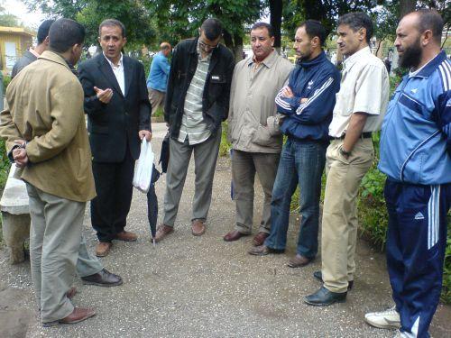 réunion des 19 PEST dans le jardin publique du centre ville de Constantine