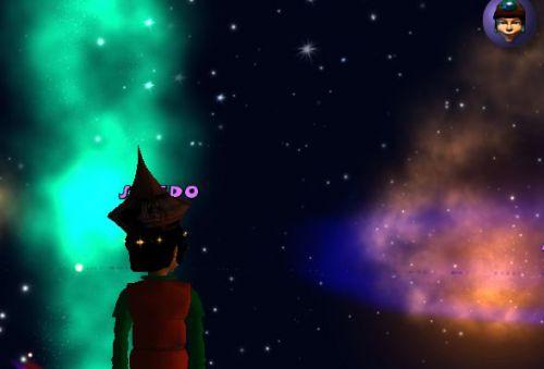 La Galaxie Boaki avec l'Aurore Verte