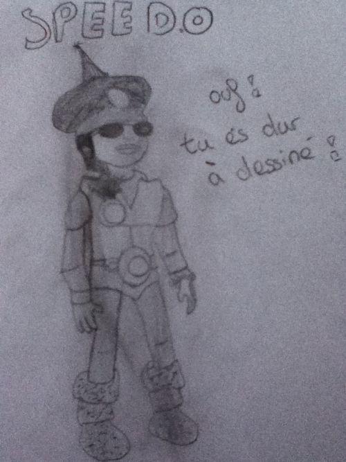 Moi (Speedo) dessiné par notre géniale Lilas !