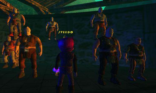 Prison des Loobhars, dans une sorte de cabane... Avec des Loobhars qui ne bougent pas ! Mais qu'est-ce que c'est ?7e photo.