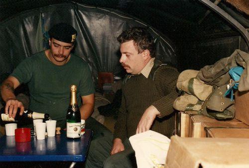 Plastron Taconex 1 JP du 18 au 20/10/1989 avec l'Esc C — avec Alain Lisot.