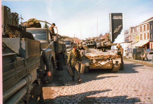 Repleins à la gare de Gouvy dans les années 90 car le Scimitar est équipé des lances SMK pot HC TK
