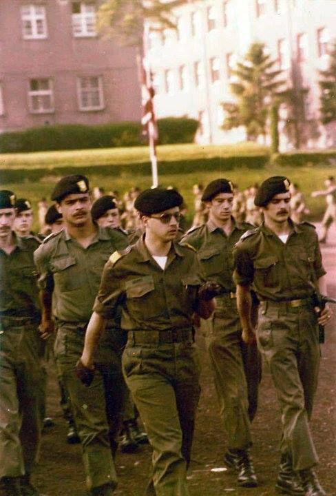 Jean Pierre Letellier, Jean Parmentier, Lt Mawet, Brig Dumont, Brig Debart, (photo Patrick Delvesco)