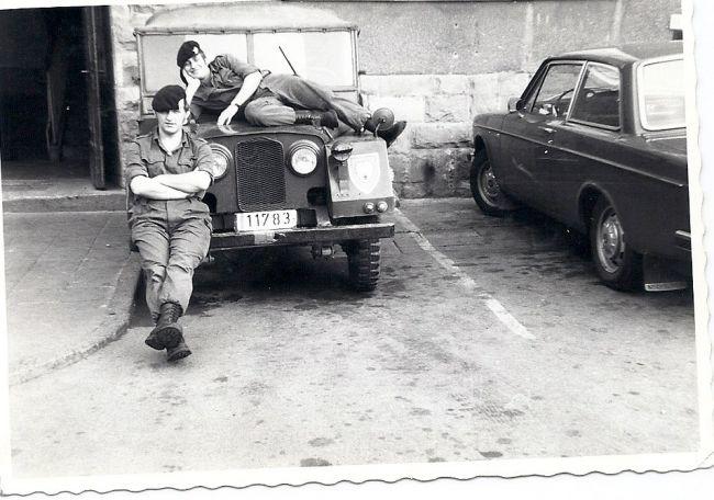Arnsberg devant L'esc.A en 1972 , Filippi Angelos et Plainevaux Guy sur la Minerva la 11783 !!