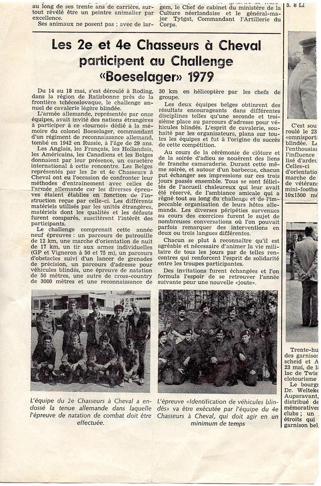 Boeselager pokal 1979 Avec Capt Olyslaeghers,Doensen Yves, Brig Reyns, Bajoux, Slt Dumont, Raymond, Brig Chef Dumont Marcel, Martin Laenertz, Marc Renson