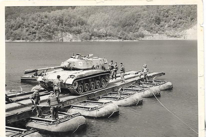 Mon M41 le 33, traversé du lac à Vogelsang 1962.
