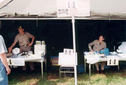 Portes ouvertes '91 à gauche Willy Cardon et Maurice CENIER