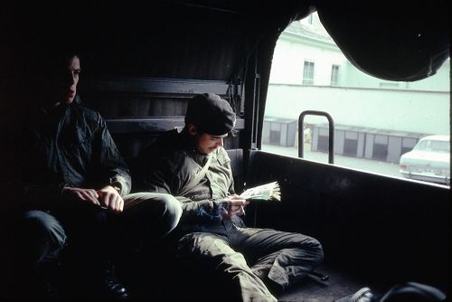 Arrière du M.A.N départ au tir de g à dr J-M Wilputte et Jean Parmentier