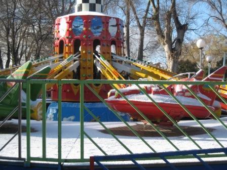 premières neige de décembre 2011 (parc d'attraction)