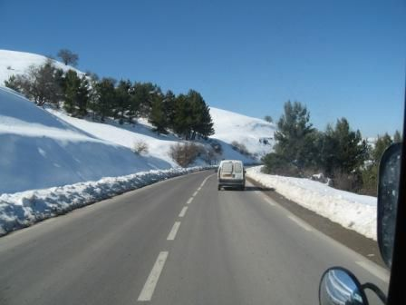 Neige sur la route Sétif - El Mawane - Bougaa