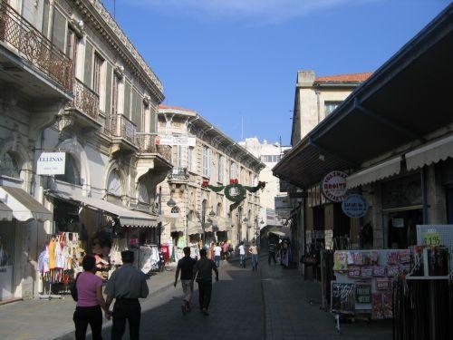 Rue piétonne centre ville de Limassol
