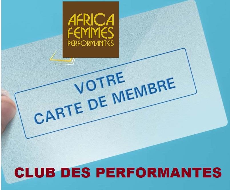Carte-de-membre ADHESION CLUB DES PERFORMANTES