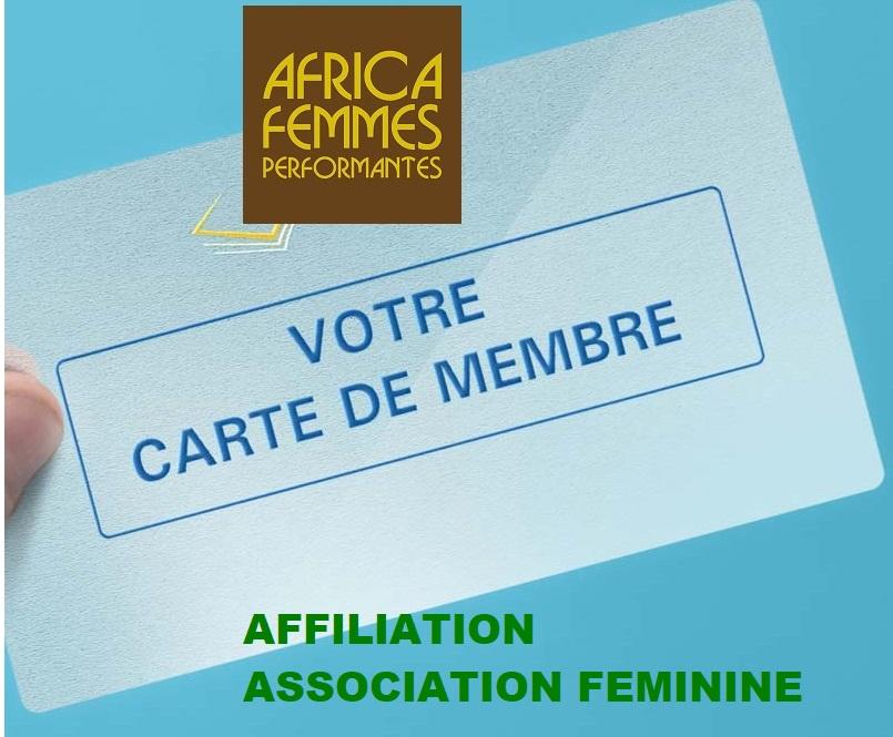 Carte-de-membre AFFILIATION ASSOCIATION FEMININE