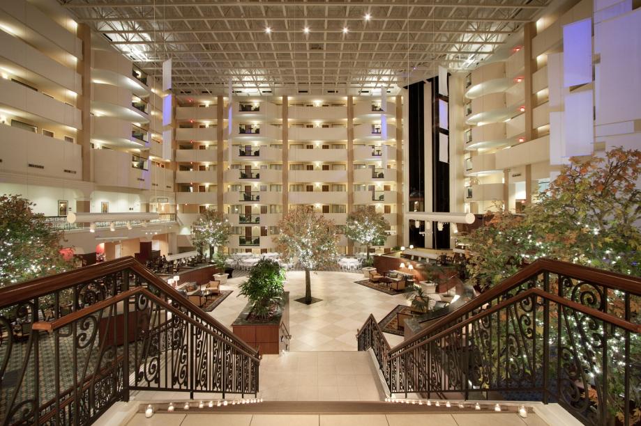 Hilton Rockville - Atrium Stairs