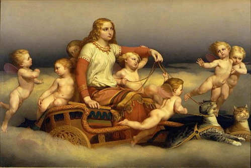 Freyja_and_cats_and_angels_by_Blommer.jpg