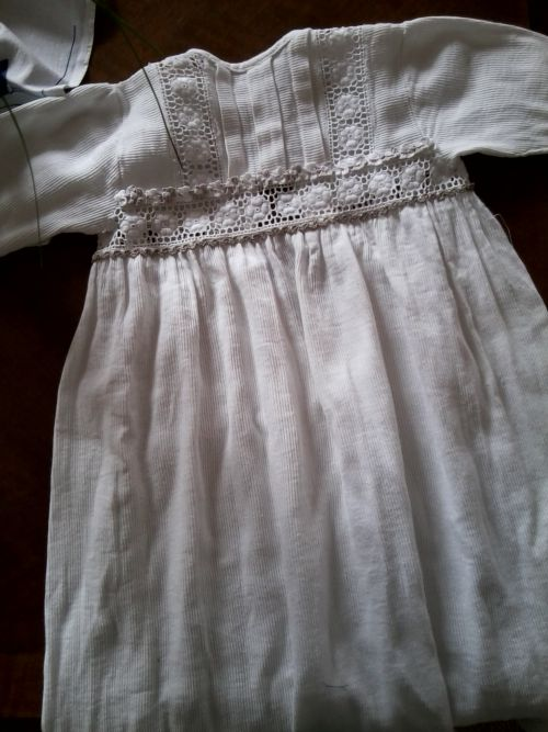Robe de baptême ancienne customisée