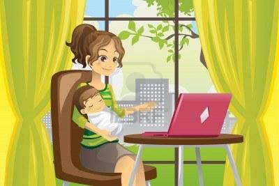 11764913-une-illustration-de-vecteur-d-39-une-mere-qui-travaille-sur-un-ordinateur-portable-tout-en-tenant-un.jpg