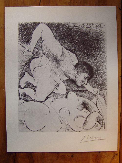Litho de Picasso Suite Vollard - 1200 €  (avec certificat)