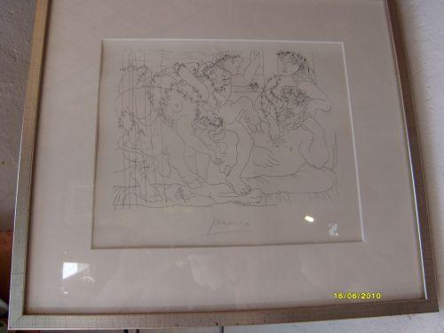 Litho de Picasso Suite Vollard 22x27 cm - 1200 € (avec cadre)