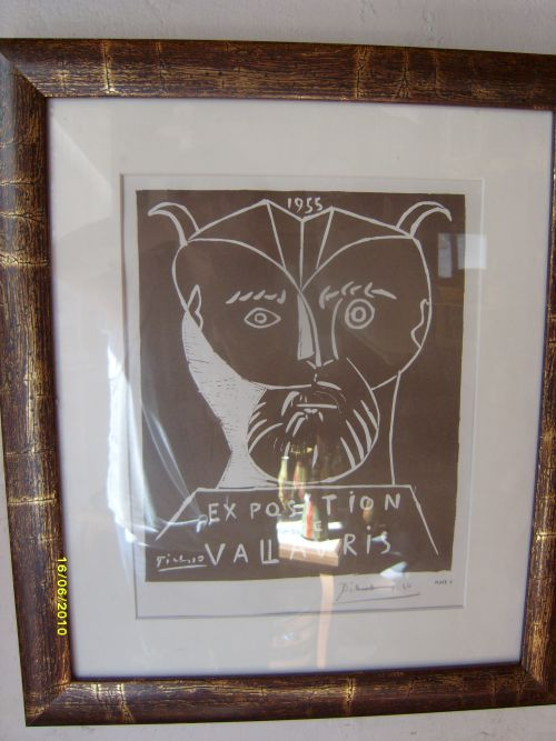 Affiche de Picasso pour Exposition à Vallauris - 1450 € avec cadre