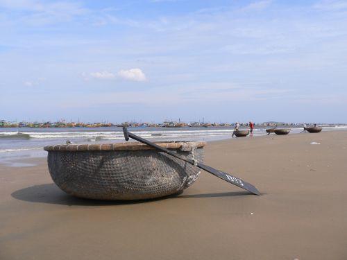 Flotille de bateau de pêche à Mui Né (Vietnam)