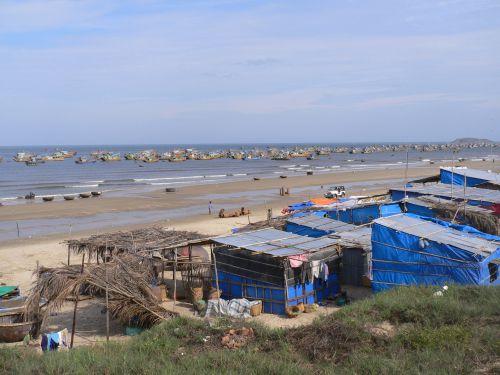 Port à flot à Mui né. Vietnam
