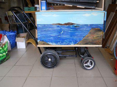 charette avec chassis de tondeuse.jpg