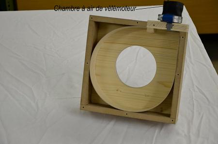 caisson turbine vide guide d'air