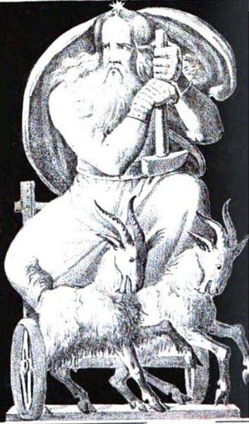 Thor et ses 2 boucs